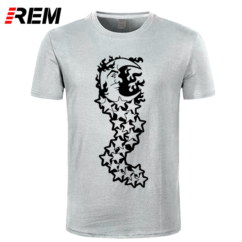 REM crescent moon Print Women tshirt Cotton Casual Funny t shirt For Lady Top Tee Hipster Tumblr Drop Ship