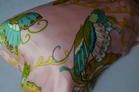 New Free Shipping 100 Pure Silk Oxford Pillowcase Butterfly Floral Pillow Cover Envelope Back Print Stain