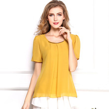 Фотография  version of self-cultivation Large Size Chiffon shirt, Cool Chiffon shirt, short sleeved yards wholesale manufacturers