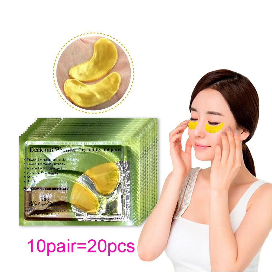20Pcs10Pairs Gold Crystal Collagen Eye Mask Patches For Eye Anti Aging Acne Korean Cosmetics Skin Care