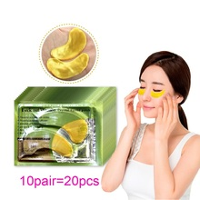 20Pcs=10Pairs Gold Crystal Collagen Eye Mask Patches For Anti-Aging Acne Korean Cosmetics Skin Care