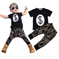 High Quality Summer Kids Boy Clothes Sets Fashion Letters Pattern T-shirt+Pants 2pcs Suit Brand Baby Girl Boy Sport Clothing Set