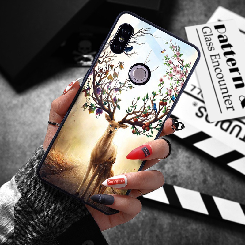 note 5 phone cases Tempered Glass Case For Xiaomi Redmi Note 5 5 Pro 5 Plus Note 4X Case Luxury Animal Pattern Case For Xiaomi Mi 8 A1 5X Coque (9)