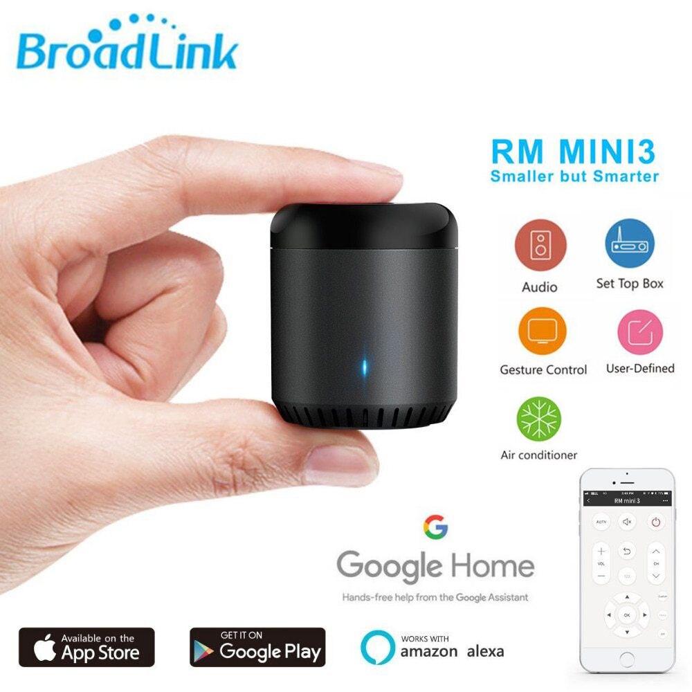 Broadlink RM Mini 3 Wi-fi + 4 Original G + Controle Remoto IR trabalhar com Alexa IFTTT Assistente Google Inteligente casa TV AC Controlador APP