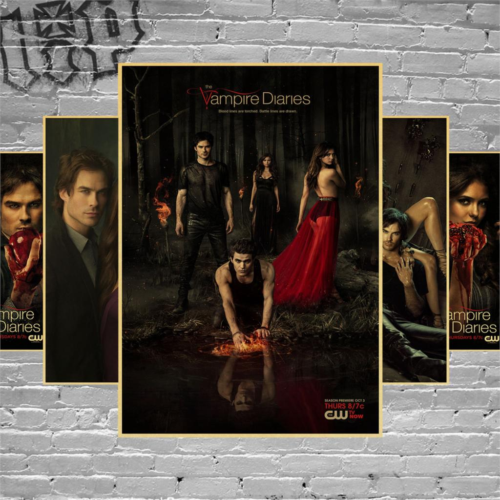 The Vampire Diaries TV Show Poster or Canvas Art Print A3 A4 Sizes