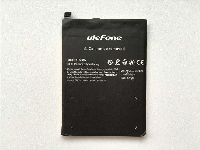 Ulefone U007 Batterie 2200 mAh Hohe Qualität Sichern Batterie Ersatz Für Ulefone U007 Smartphone-Auf Lager