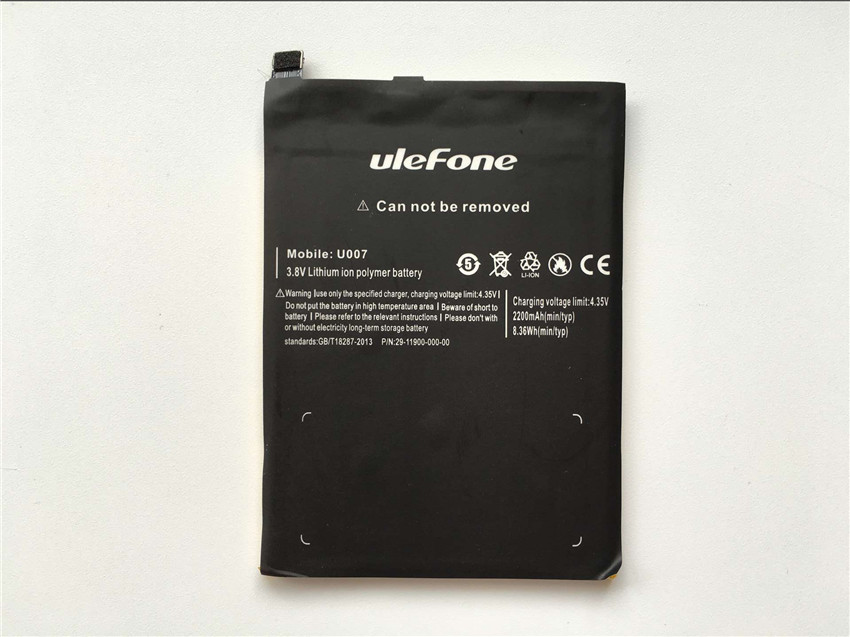 Ulefone U007 Battery 2200mAh High Quality Back Up Battery Replacement For Ulefone U007 Smartphone - In Stock