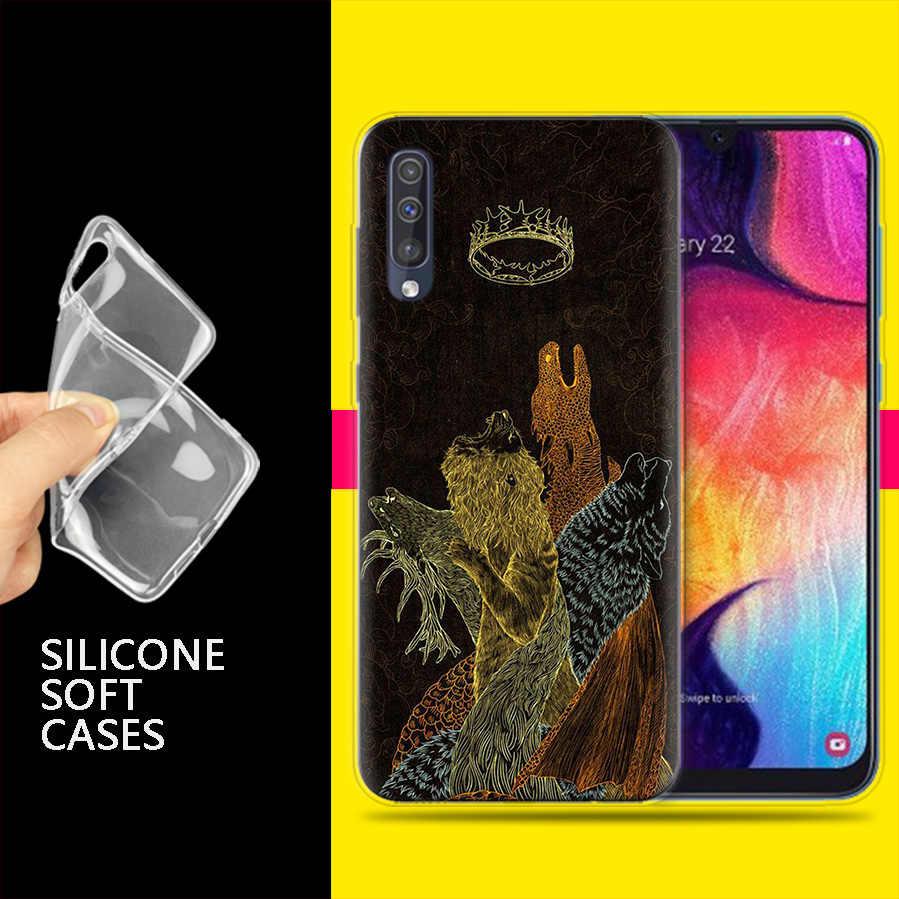 Bao Ốp Lưng dành cho Samsung Galaxy Samsung Galaxy Điện Thoại Di Động A50 A70 A30 A20 J4 J6 J8 A6 A8 M30 A7 Plus 2018 note 8 9 Trò Chơi Của Ngôi Anime Coque J6