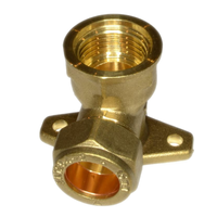 """Brass Backplate Elbow Outside Tap Wing-back Elbow 15mm Commpression*1/2"""" BSP Wall Plate Elbow Road Drainage System Hardware Tool"""