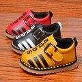 Sapato bebe Otoño Niños Bebés Carta Cuero de LA PU Zapatos Casuales Niños Niñas Mocasines
