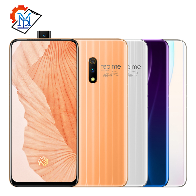 Realme X Mobile Phone 6.35 inch AMOLED Screen <font><b>4GB</b></font> <font><b>RAM</b></font> <font><b>64GB</b></font> ROM Snapdragon 710 Octa Core 48.0MP 3765mAh Super VOOC <font><b>Smartphone</b></font> image