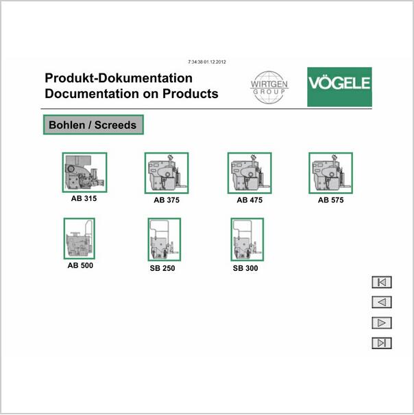 electronic wiring diagrams vogele electronic spare parts catalog  vogele service manual electric wiring diagram and colour spare parts catalog  vogele
