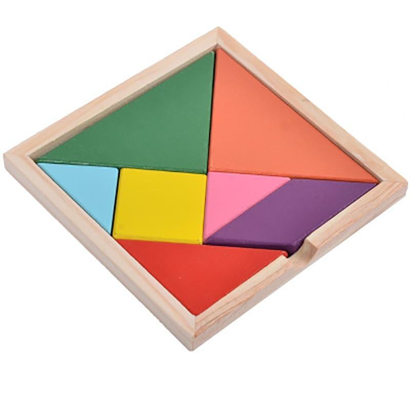 Новые Детские умственное развитие Tangram Логические Развивающие игрушки для детей Цвет изменен DIY головоломки игрушки