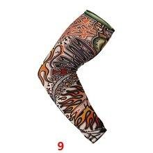 √  Спорт на открытом воздухе Татуировки Рукава УФ-Защита от Солнца для Прохладного Лета Печати Рукава √