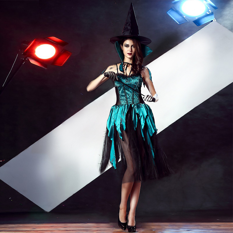 Dark Green Sexy Witch Costume #028418 @ Sexy Witch