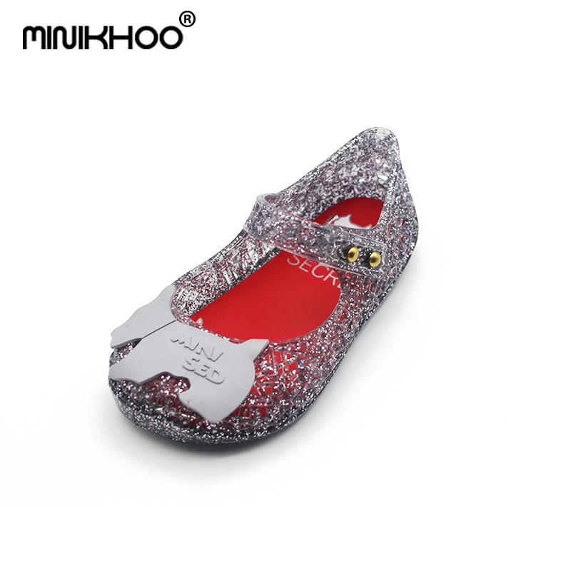 Mini Melissa Campana Zig Zag Brazilian Children Sandals Children Shoes Hollow Jelly Shoes Girl Breathable Sandals 13cm-15.5cm