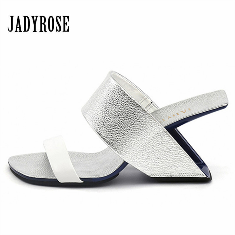JADY ROSE Fashion Slippers Strange Heel Women Sandals Wedge Shoes Woman Beach Slides 8CM High Heel Slipper Gladiator Sandal new women sandals low heel wedges summer casual single shoes woman sandal fashion soft sandals free shipping
