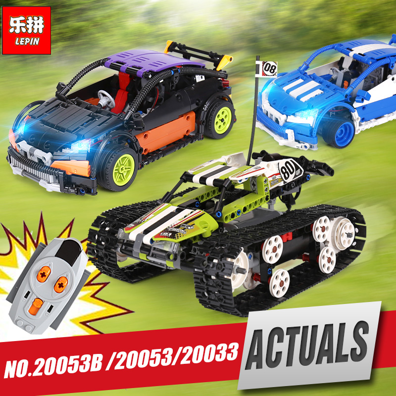 Lepin 20033 20053 Technic Series The RC Track Remote-control Race Car Set Educational Building Blocks Bricks Toys Legoings 42065