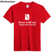 Geek programmer must have T shirt Euro & American style SLEEP NOT FOUND boy's team tee O-Neck colored plus size quick shipping