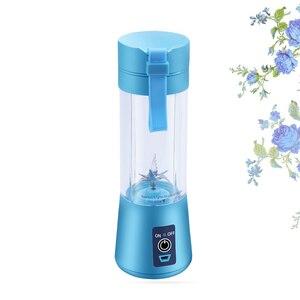 Image 5 - Draagbare Sap Blender Usb Juicer Cup Multifunctionele Fruit Mixer 2 4 6 Blade Mengmachine Dropshipping Rood Zwart groen Blauw Pu