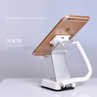 10xMobile Phone Security Stand Cell Phone Display Holder Iphone Alarm Charging Device Anti Theft Bracket For