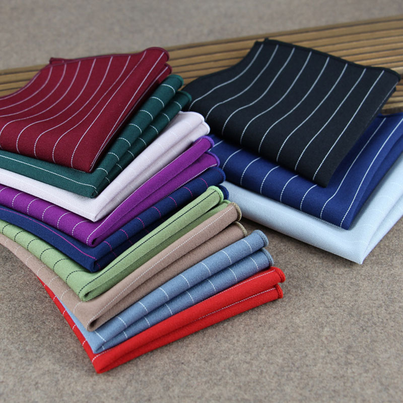 Men's Handkerchiefs Fashionable Twill Cotton Small Square Towel Business Banquet Leisure Pocket Towel
