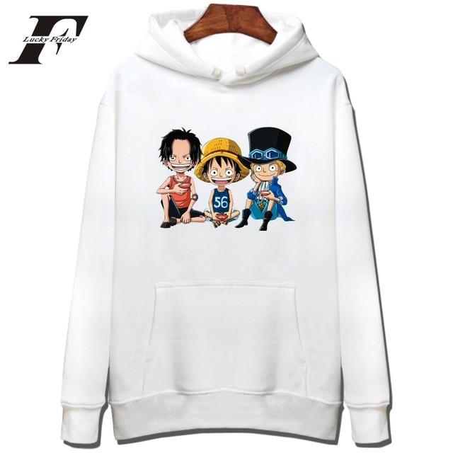 One Piece Logo Pullover Harajuku Sweatshirt Men Cap Hoodie