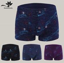 4 unids/lote gran oferta hombres ropa interior Boxer Bermudas Masculina De Marca Ropa interior Boxer Shorts plus tamaño grande