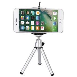 Image 2 - Treppiedi trippa cellulare del telefono mobile della macchina fotografica supporto del basamento della clip di alluminio di estensione treppiede per il telefono viaggio celular
