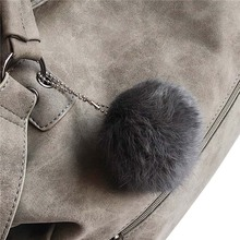 Fur Ball Women Handbags High Quality PU Leather Women Crossbody Bags Fashion Tassel Women Messenger Bags Scrub Bags For Ladies