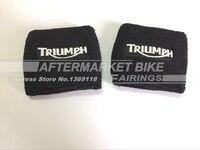 Black Brake Reservoir Socks Covers For For Triumph Daytona 675 600 1000 Street Triple Speed Triple