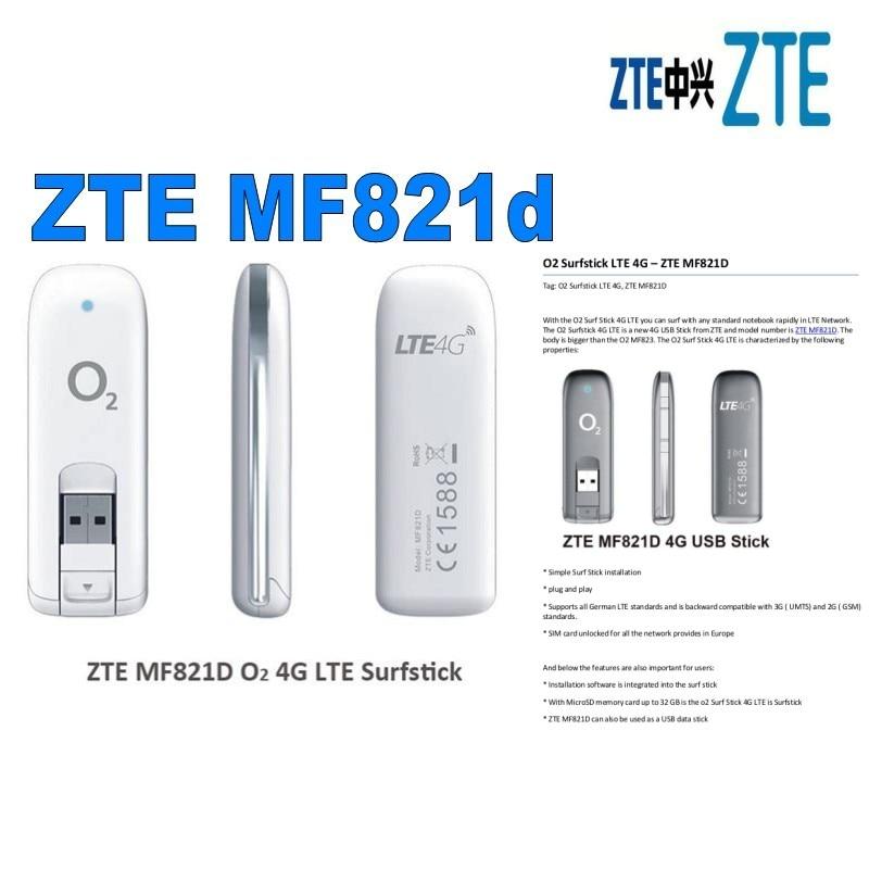 №ZTE MF 821D LTE 4G 3G USB módem móvil WiFi 100 Mbps stick - a821