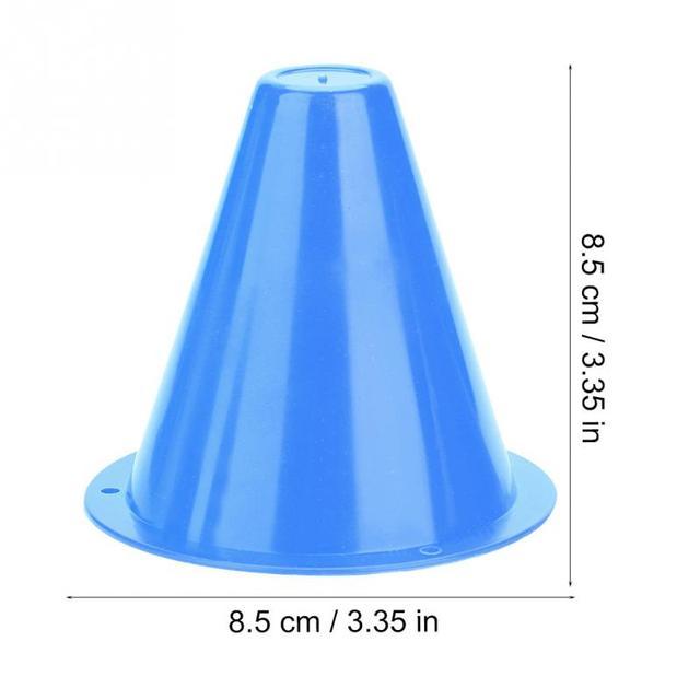 10pcs/lot 8cm Soccer Training Marker Football roadblocks sign bucket triangle road cone obstacles marker soccer speed train pile