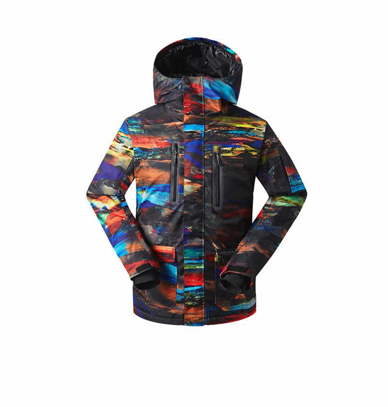 2018 Gsou снег Для мужчин лыжная куртка непродуваемая Водонепроницаемый  уличная спортивная одежда Лыжный Спорт для верховой 46c53bc3f9e