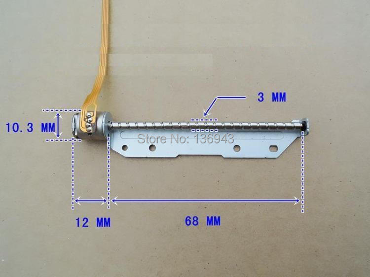 10PCS Low Price 10mm Two-phase Four-wire (hybrid) Stepper Motor With Length Of 68mm Stainless Steel Gear/Worm Rod
