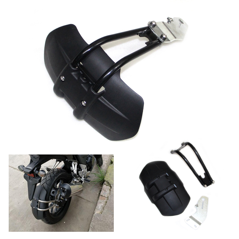 Motorcycle Aluminum & ABS Plastic Rear Fender Mudguard Fit for YAMAHA YZF R3 R15 MT-07 FZ07 MT09 FZ09 MT03 FZ03 MT125 XJR1300 motorcycle cnc aluminum mudguard rear fender bracket license plate holder light for yamaha yzf r25 r3 yzf r25 yzf r3