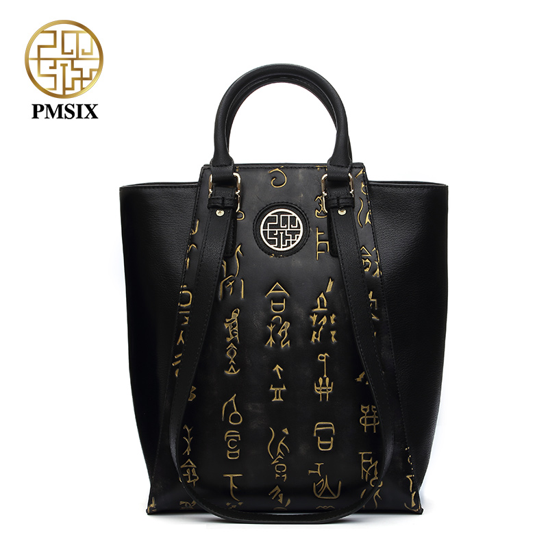 Pmsix luxueux dames sacs En Cuir Véritable de Femmes sac fourre-tout polyvalent femmes épaule sac Fermeture Types Zipper Feminina Bolsas