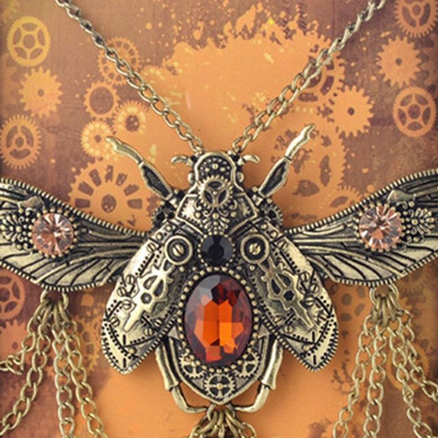 Insect Beetle Steampunk Necklace5