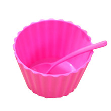 Ice cream bowl lace with spoon salad bowl Home Grocery Bag Holder Wall Mount Storage Dispenser Plastic Kitchen Organizer