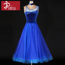 Women Ballroom Dance Dress Organza Sexy  Sleeveless Standard Performance Competition Jazz Waltz Tango Fox-Trot Jigs Suits