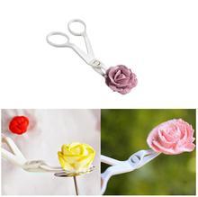 3 pcs/lot New Design Kitchen Tool Plastic Scissor Fondant Decor Flower Lifter Cake Edge Decorating Cake Tool