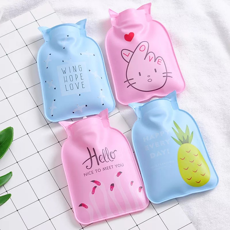 Hot water bags for cartoon mini-injection Water injection warmers Water filled portable warm baby.