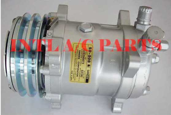 US $56 0  auto air conditioning AC Compressor for Sanden 5H14 508 8390  SD5H14 SD508 2pk pulley 24V-in Air-conditioning Installation from  Automobiles &