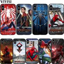 Marvel Avengers Spider-Man Coque For iPhone xr case iPhone 7 Case X XS MAX 8 6 6S Plus 5 5s SE Etui Funda Cover Soft Silicone spider man into the spider verse for funda iphone xs max case cover for case iphone 6s plus 5 5s se 6 7 8 plus xr x cases cover