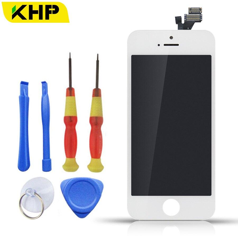 imágenes para 100% AAA KHP Original LCD de Pantalla Para el iphone 5 Pantalla Táctil Del Reemplazo Digitalizador Asamblea Con Herramientas 5S Kits
