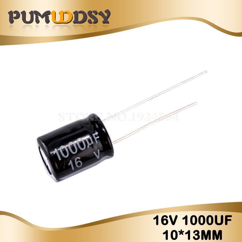 10PCS Higt Quality 16V1000UF 10*13mm 1000UF 16V 10*13 Electrolytic Capacitor