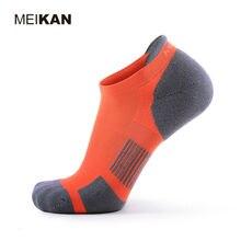 Кроссовки Мужские Носки Coolmax Без Скольжения Спортивный Паркур Сокс Хлопок Короткий Orange Сжатия Спортивные Носки Calcetines Hombre Deporte