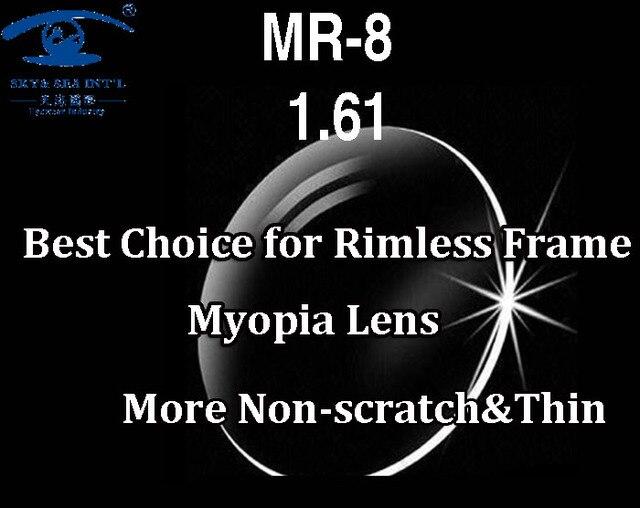 MR-8 Высокое Качество Индивидуальные Очки Без Оправы Оптические Линзы 1.61 Индекс Асферические Линзы По Рецепту Линзы Близорукость Очки Линзы