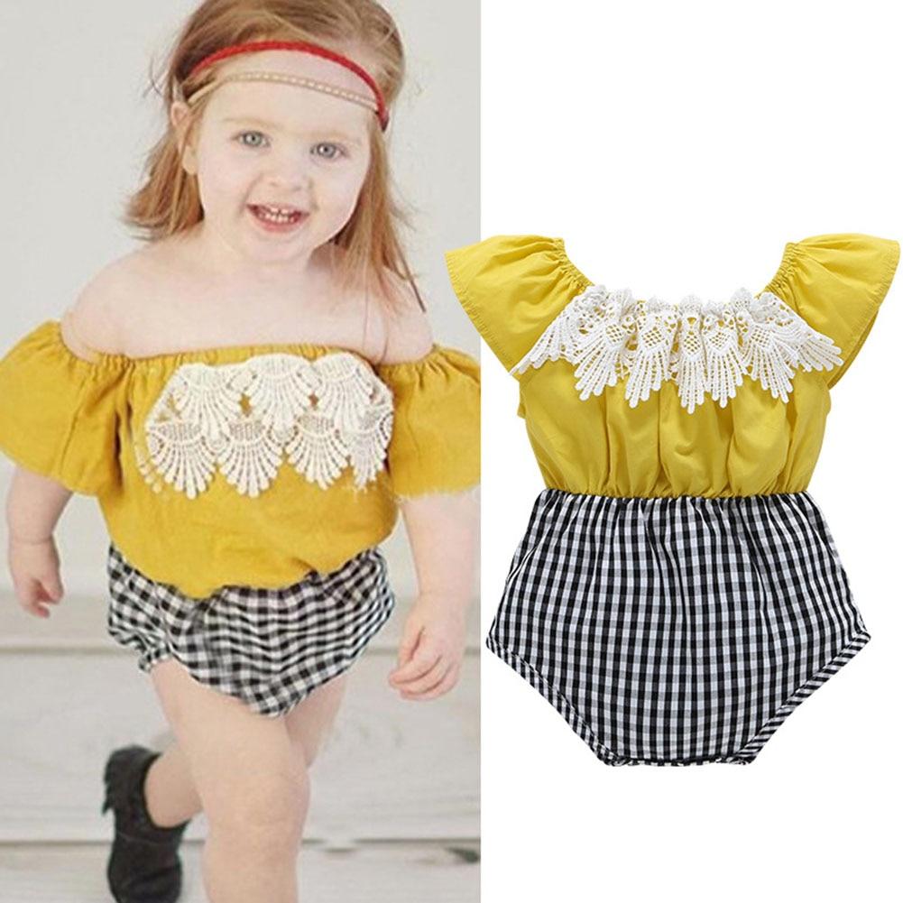 Children Kids Baby Girls Romper Jumpsuit Jumper Summer Cute Outfits Clothes BM88
