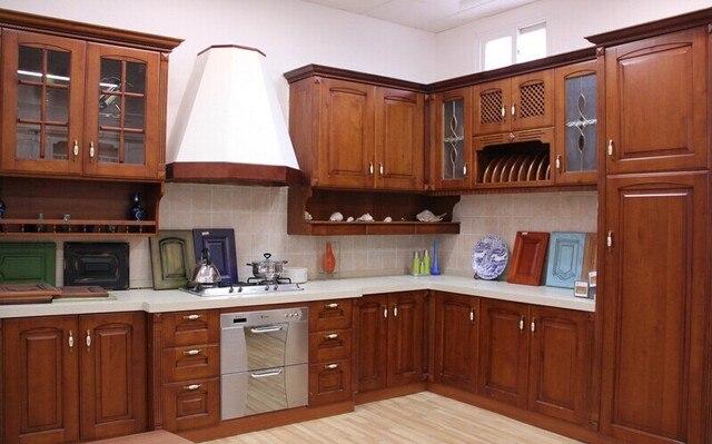 Americano rojo cereza E1 gabinete de cocina del gabinete de cocina ...